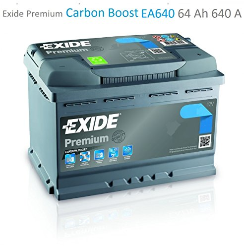 exide premium carbon boost ea640 64ah autobatterie. Black Bedroom Furniture Sets. Home Design Ideas