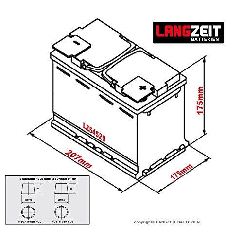langzeit autobatterie 12v 45ah autobatterie kaufen. Black Bedroom Furniture Sets. Home Design Ideas