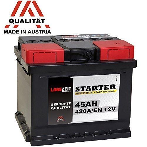 LANGZEIT Autobatterie 12V 45Ah