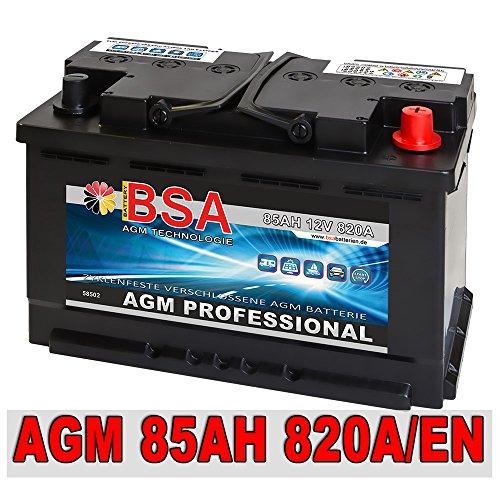 AGM Batterie Autobatterie 85AH AGM Gel Start Stop Audi BMW Mercedes VW ersetzt 80AH