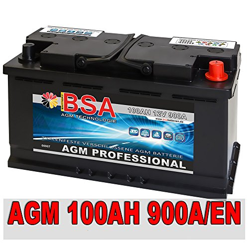 AGM Autobatterie 12V 100Ah 900A/EN ersetzt 92Ah 95Ah Audi BMW Mercedes Porsche VW
