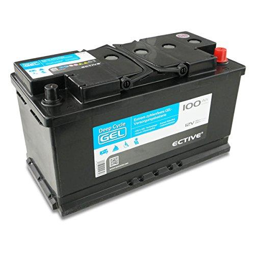 ECTIVE EDC-Serie   12V GEL Batterie   6 Varianten: 70 – 250 Ah  Wartungsfreier Gel Akku für Solar, Wohnmobil, Wohnwagen uvm.   Wartungsfreie 12 V Solarbatterie, Gelbatterie