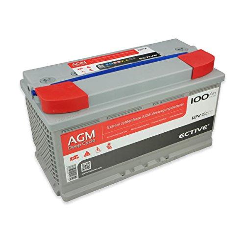 ECTIVE 100Ah 12V AGM Batterie EDC-Serie VRLA Versorgungsbatterie in 7 Varianten: 65Ah – 230 Ah (wartungsfrei)